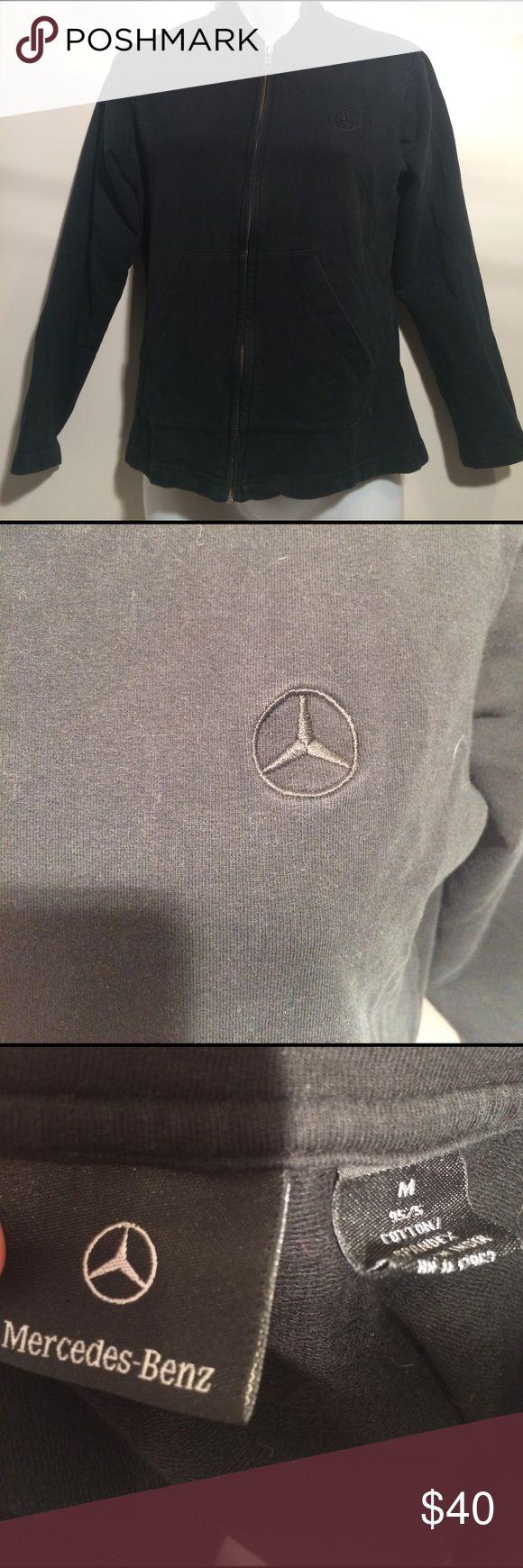 Mercedes-Benz Black Zip Up Sweater Mercedes-Benz black zip up sweater. Size medium. Good condition. No major signs of wear or staining Mercedes-Benz Tops Sweatshirts & Hoodies