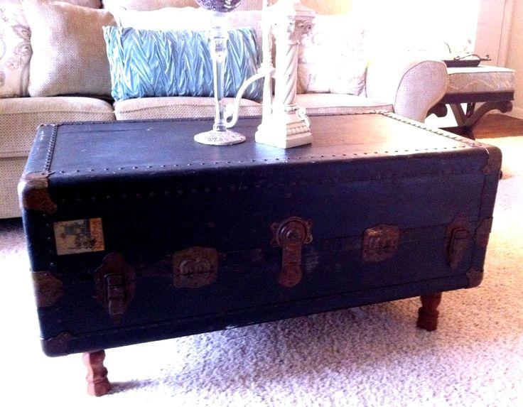Steamer Trunk Coffee Table: Repurposing Old Stuff