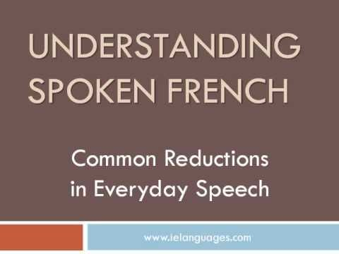 You've already learned written French from books - now learn spoken French that you will hear in everyday conversations in France. This video provides a few ...