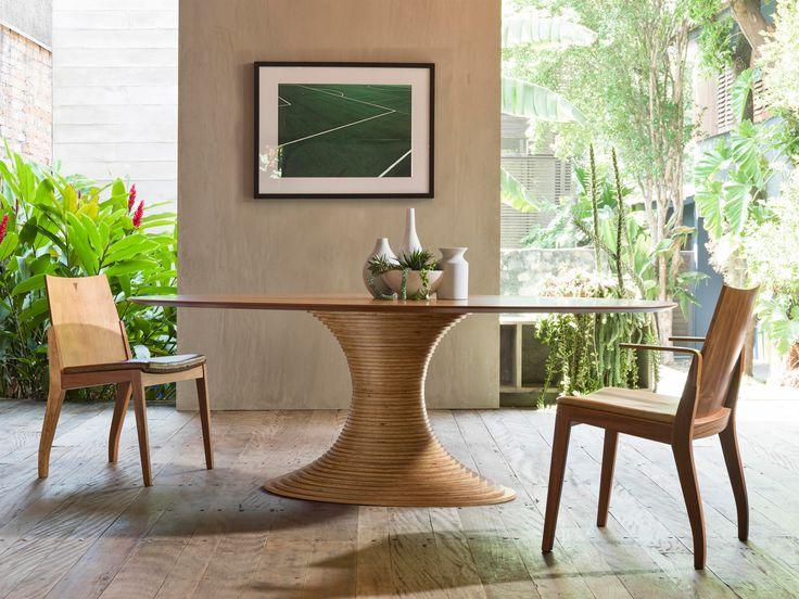 Cadeira Marina e Mesa Saturno Oval | Fernando Jaeger Atelier