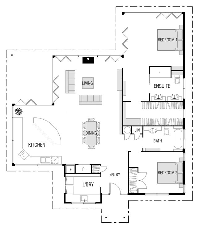 This plan includes my changes. Original here. 1948sf This is a great plan from a New Zealand firm. I ended up loving it even more than I expected to. I think it's now third on my dream house list....