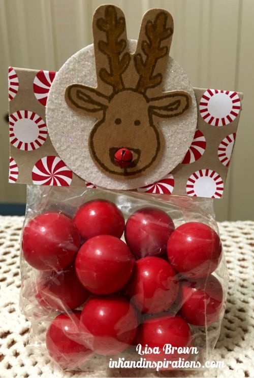 Reindeer Christmas Treat with Stampin' Up! Cookie Cutter Christmas - ink and inspirations