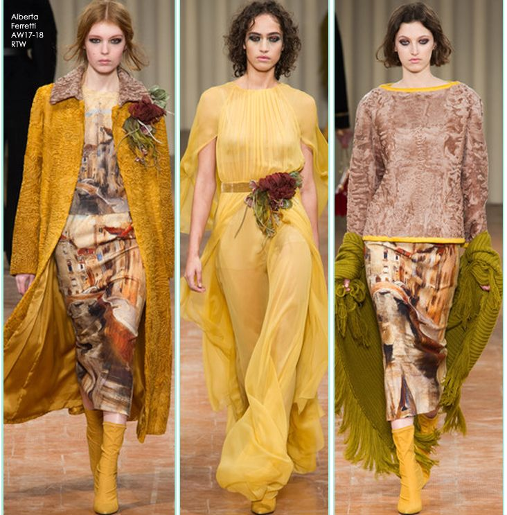 Welcome the first week of October with a beautiful autumnal palette inspired by these stylish Alberta Ferretti's catwalk looks SHOP THE NEW ARRIVALS at STILORAMA.COM