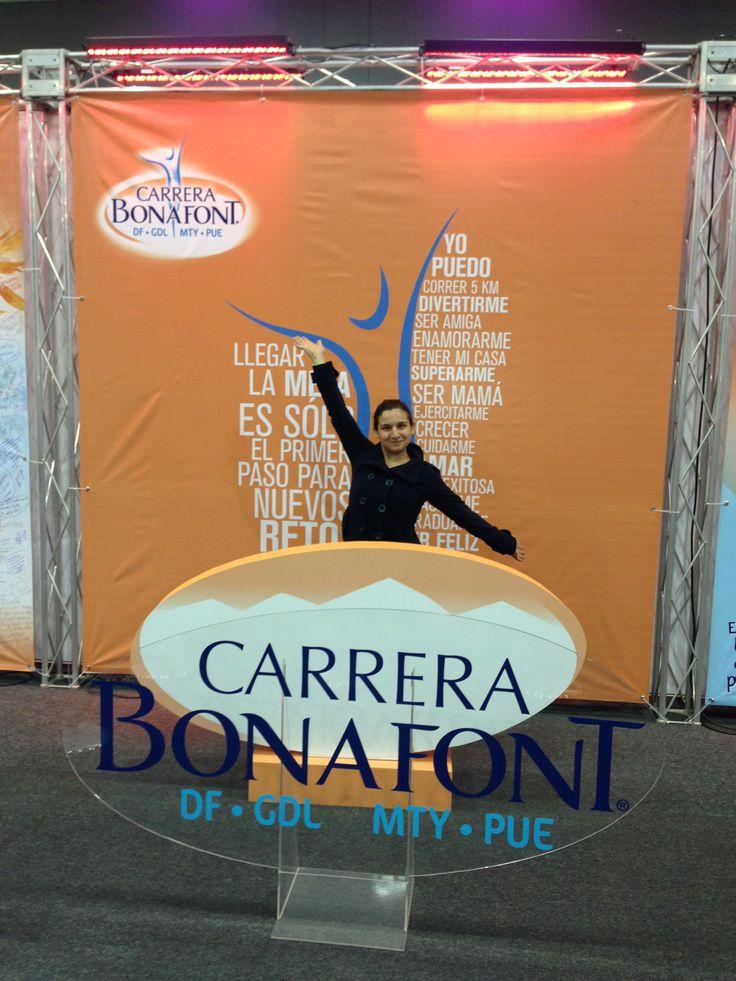 Gina Mondragon participante del Reto 3x3 lista para correr la carrera Bonafont!