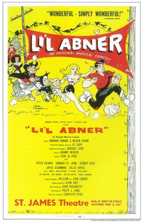 Li'l Abner 11x17 Broadway Show Poster (1956)