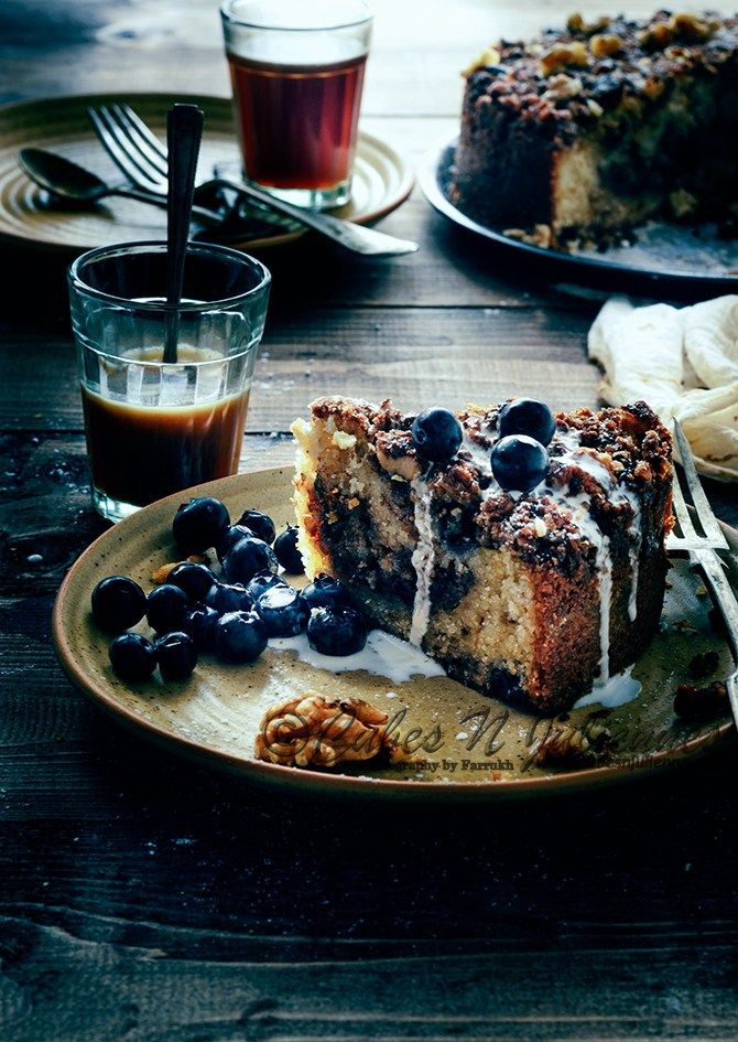 Spiced Blueberry Crumb Coffee Cake | Cubes n Juliennes
