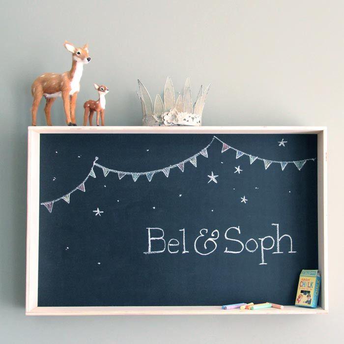 Estanteria pizarra para cuartos infantiles - BelandSoph.com