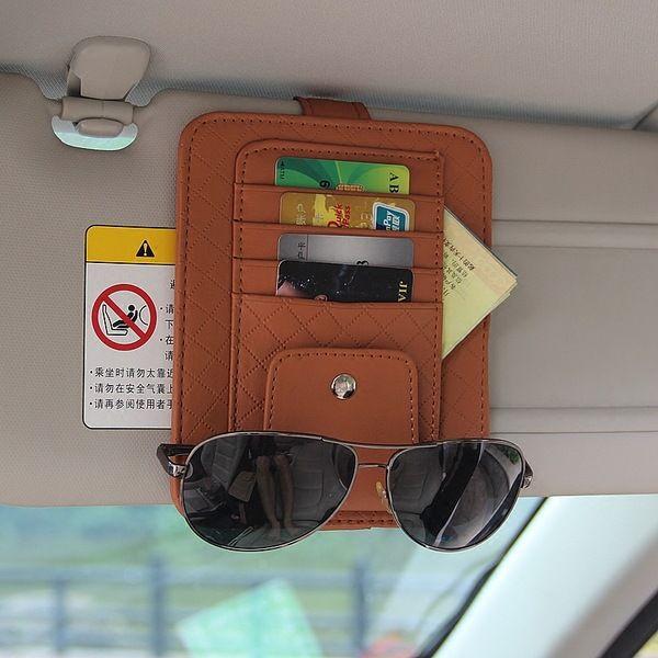 Zonneklep Multifunctionele PU Auto Card Pakket Houder Bril Opslag Pen Organisator Auto Opknoping Bag Auto Opruimen Accessoires Pocket