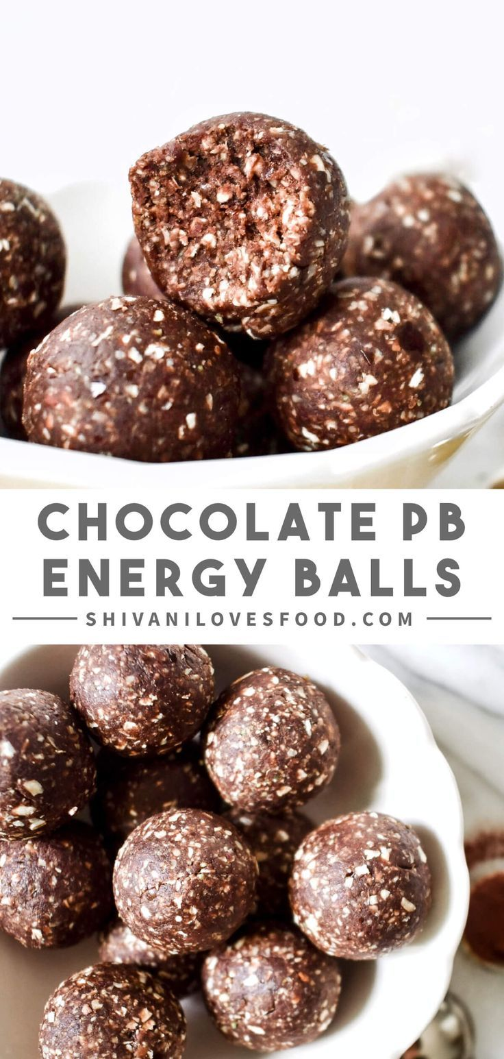 No Bake Chocolate Peanut Butter Energy Balls