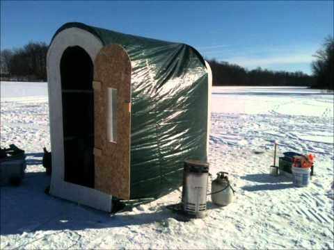 319 best images about ice fishing on pinterest ice for Homemade hunting shack