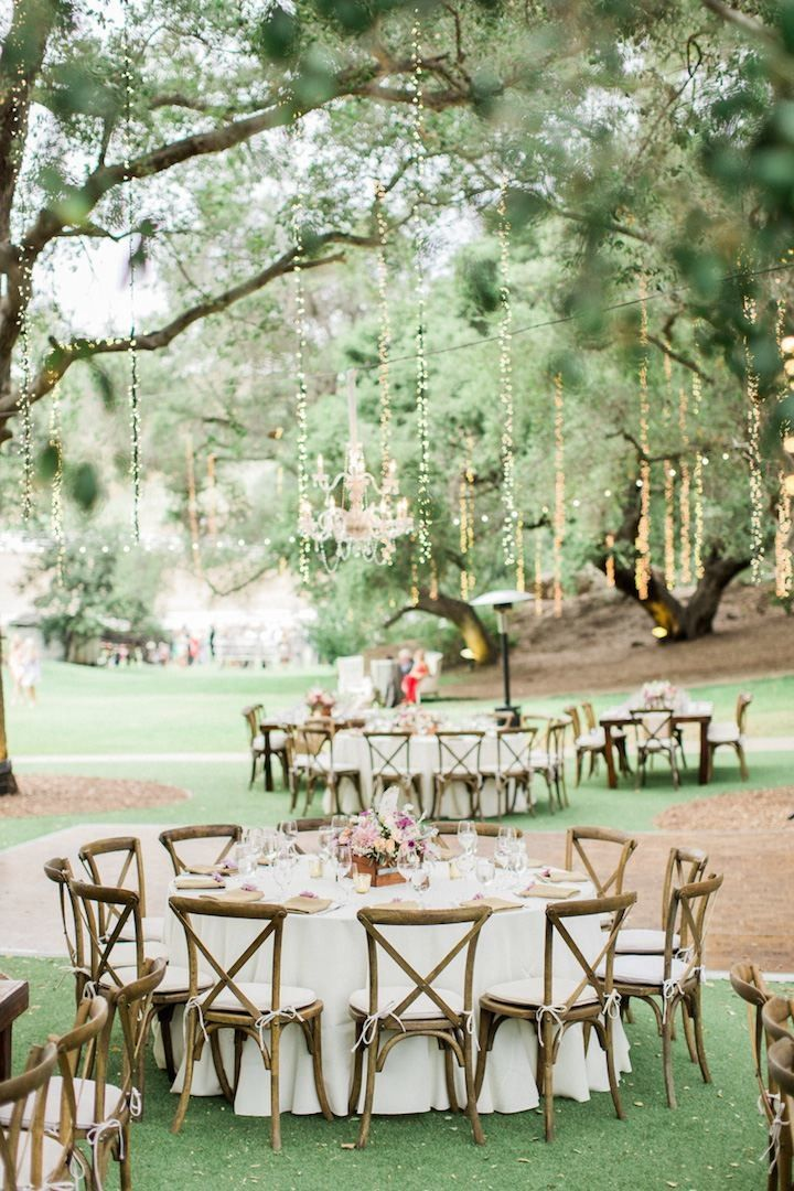 Chic rustic theme wedding reception idea photo