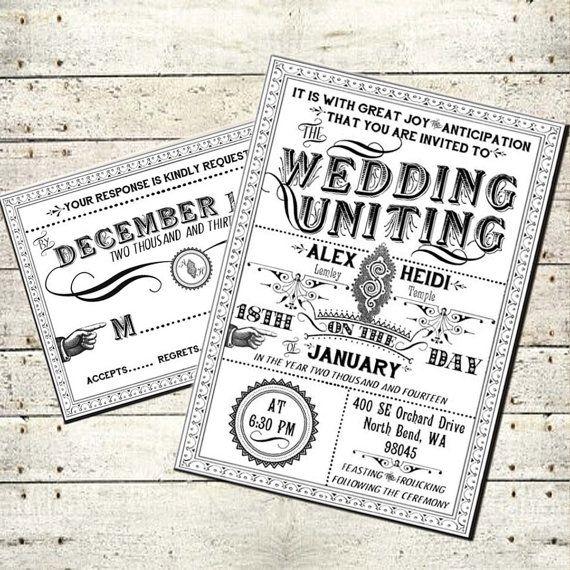 steampunk wedding invitations