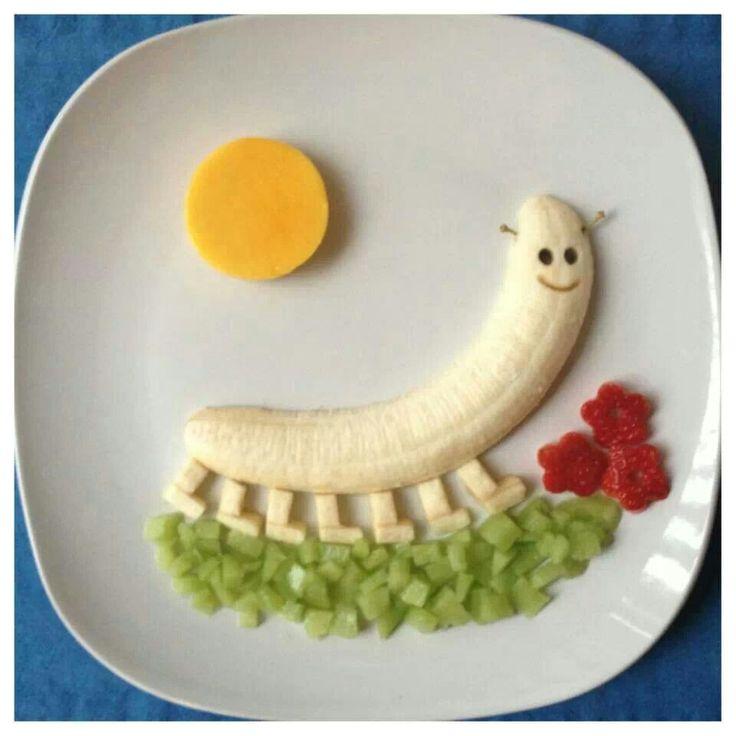 Comida gusanito para los niños