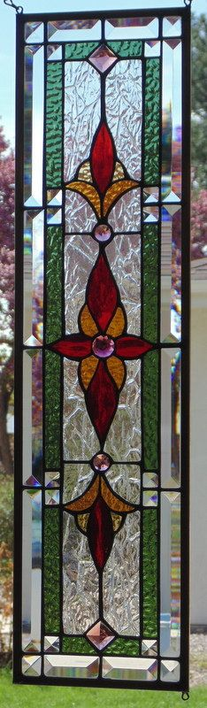 stained glass art panels patterns panel hangers window hang