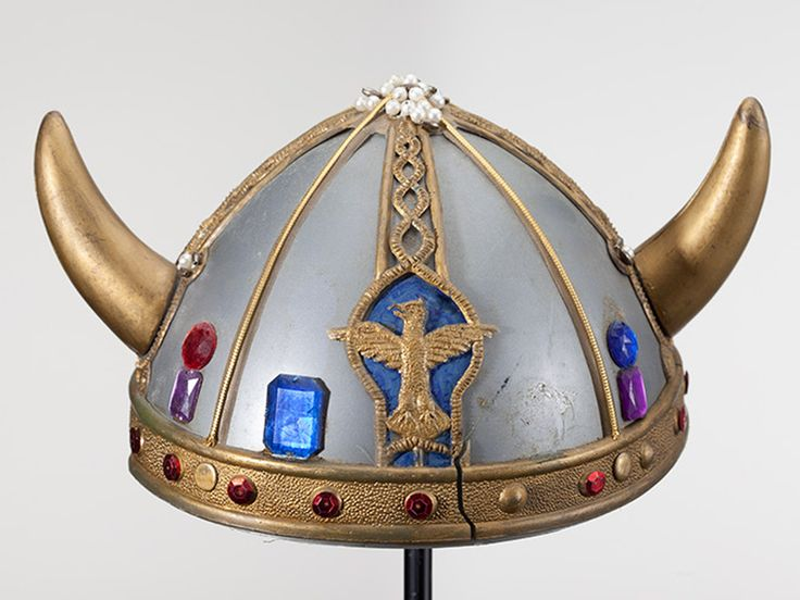 Dr. Seuss (Theodor Seuss Geisel) collected hats like this plastic toy Viking helmet for over 60 years.
