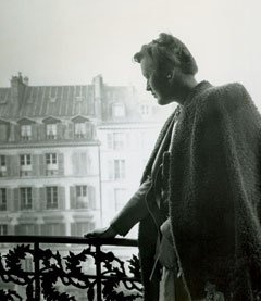 Julia Child on the balcony of her Paris home #HappyBirthdayJulia Wow, such a strong picture of such an amazing woman.