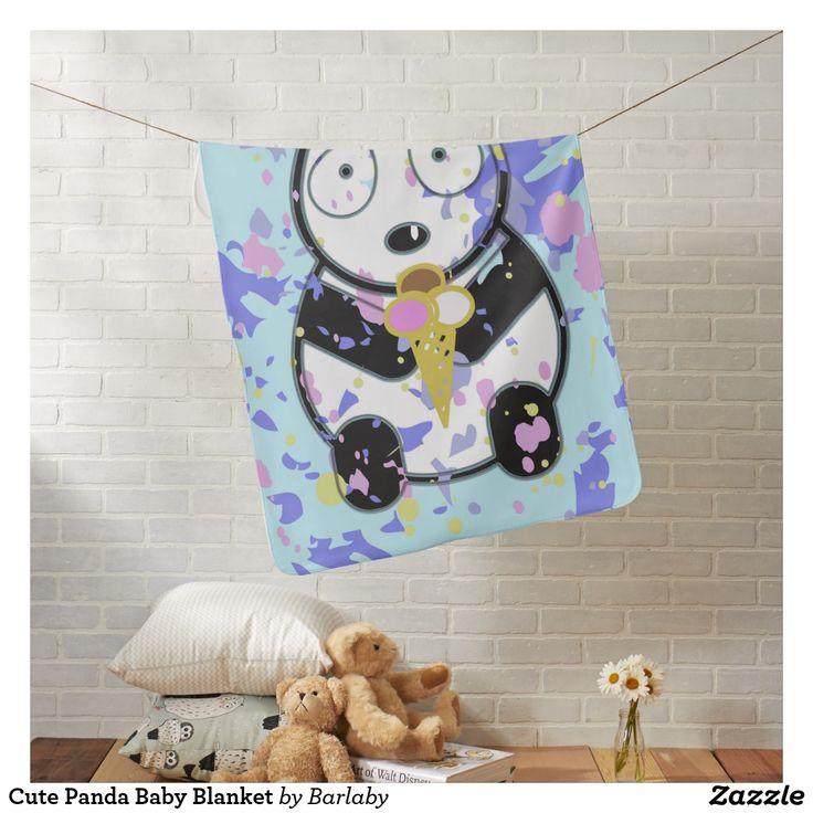 Cute Panda Baby Blanket