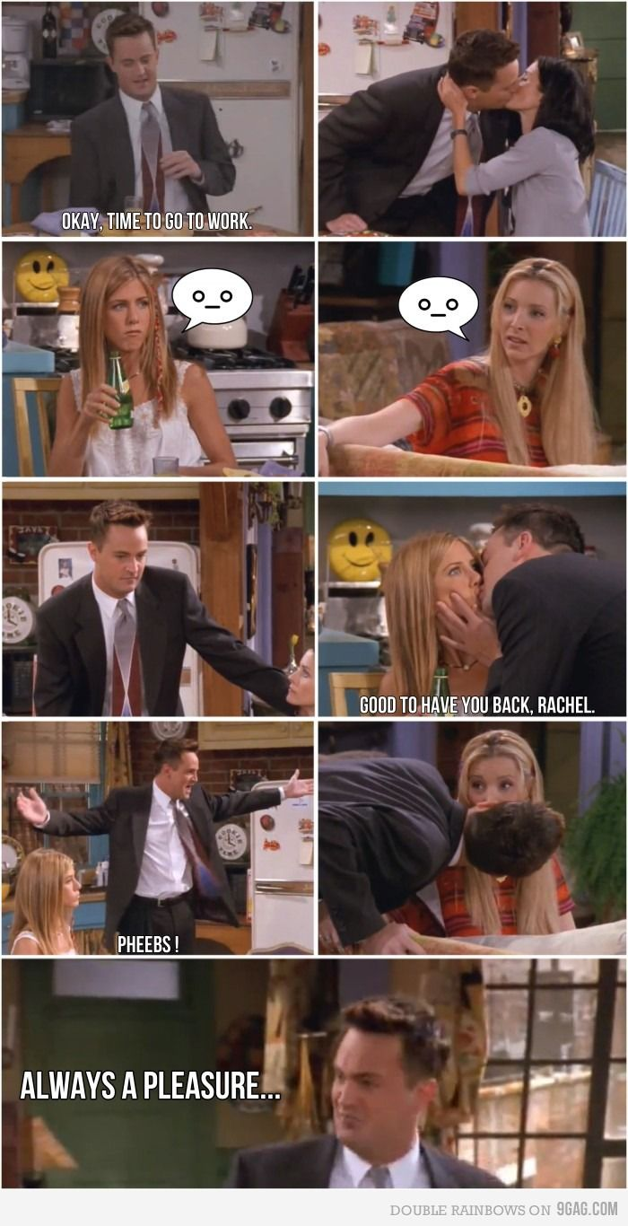 """""""Always a pleasure."""" Chandler is by far my favourite, and this one of his best scenes x)"""