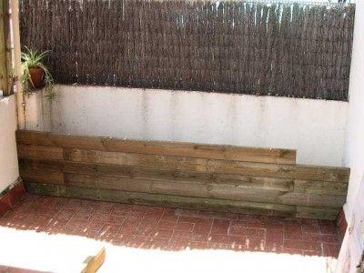 17 mejores ideas sobre jardinera de madera en pinterest - Maceteros de obra ...