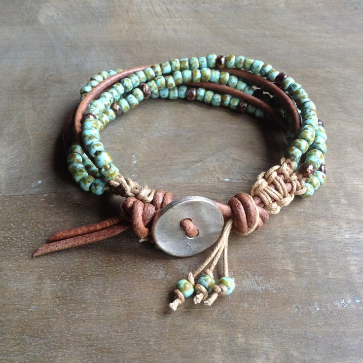 Bohemian bracelet boho chic beaded boho bracelet hippie bracelet rustic bracelet rustic jewelry hippie jewelry womens gift jewelry by Auntelisabeth on Etsy https://www.etsy.com/ca/listing/456955540/bohemian-bracelet-boho-chic-beaded-boho