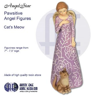 Pawsitives Angel Figurines - Cat's Mew