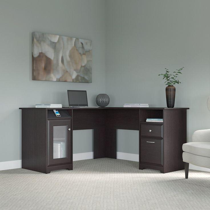 Brown Bush Computer Denl Desk Espresso Furniture Office