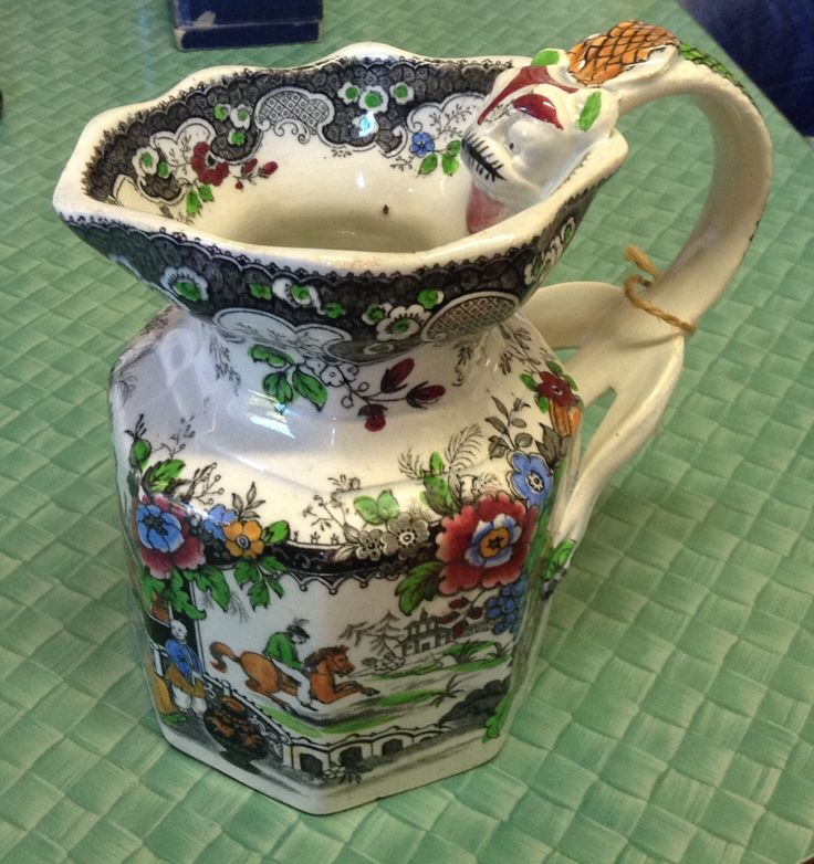 Gorgeous 1820's English jug- very similar to Masons ware. Present for Anna!