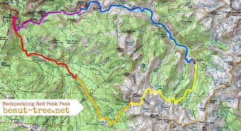 Map Red Peak Pass Loop