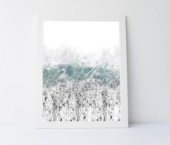 Sea storm wall art abstract sea printable by PrintableGiftIdeas