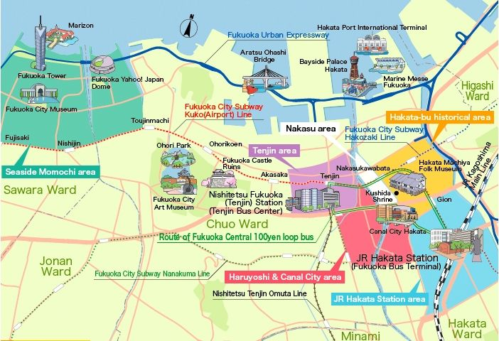 Fukuoka Map Tourist Attractions httpholidaymapqcomfukuokamap