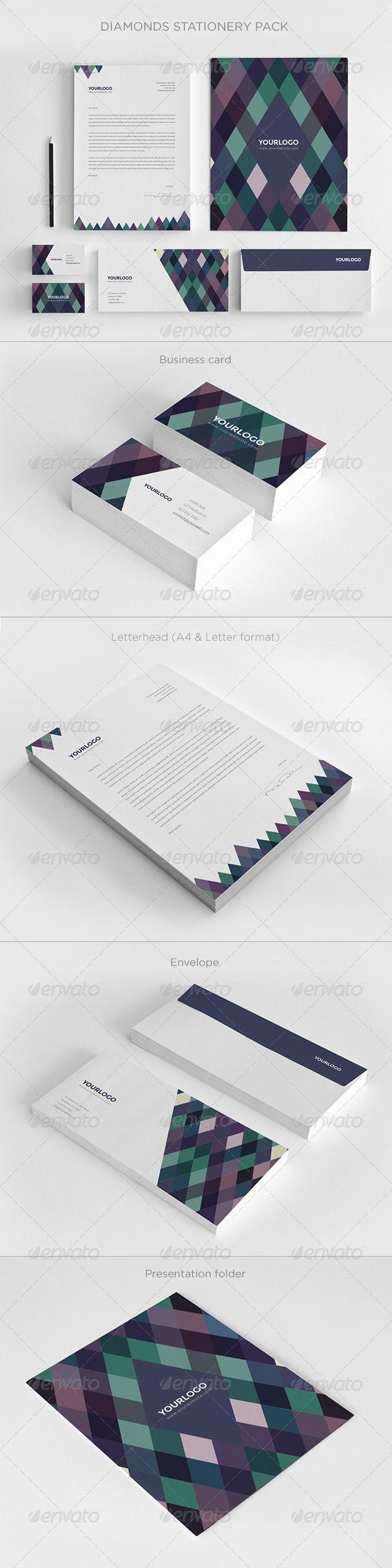Diamonds Stationery Pack Stationery Print Templates