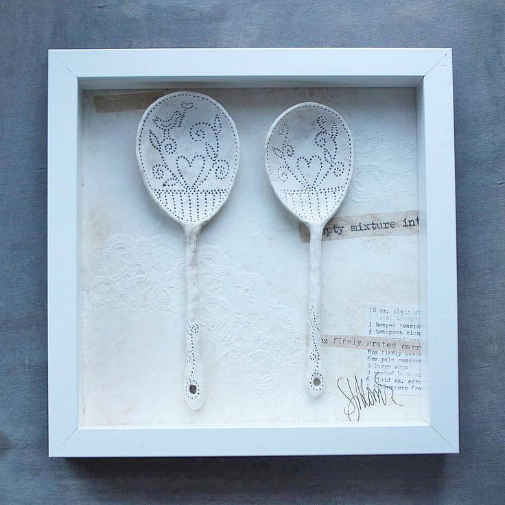 framed ceramic spoons by sarah jones-morris ceramics | notonthehighstreet.com