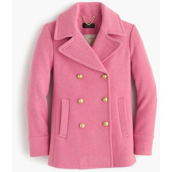 J.Crew Majesty Peacoat ($395) ❤ liked on Polyvore featuring outerwear, coats, j crew coats, belted pea coat, wool peacoat, belted peacoat and wool pea coat