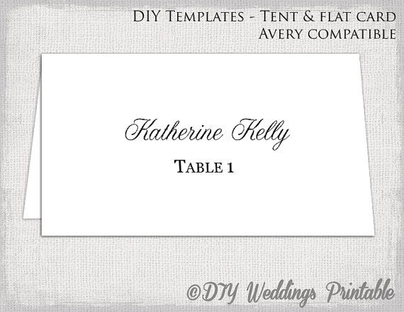 25 best ideas about place card template on pinterest for Avery wedding program templates