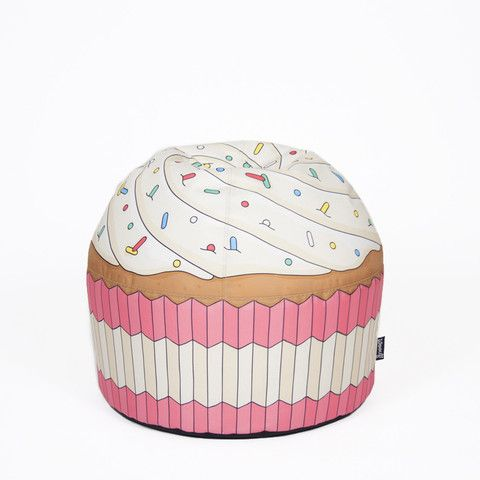 Woouf Cupcake Pink Bean Bag Cover, unfilled