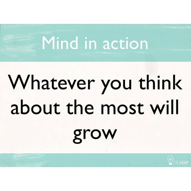 Make sure you grow good thoughts because they are real things that change your brain!