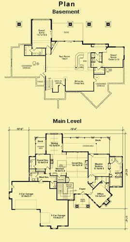 View Plans For A Mountain Home With Vaulted Ceilings In The Great  U0026 Dining Rooms  A Gorgeous