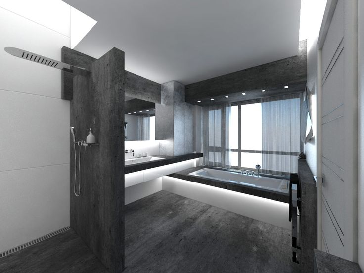 White And Black Bathroom Design With Black Floor And Tile And White Black  Bathtub Ideas Part 58