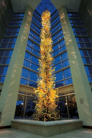 Enjoy the fabulous 55-foot tall Chihuly blown glass tower at the Oklahoma City Museum of Art.