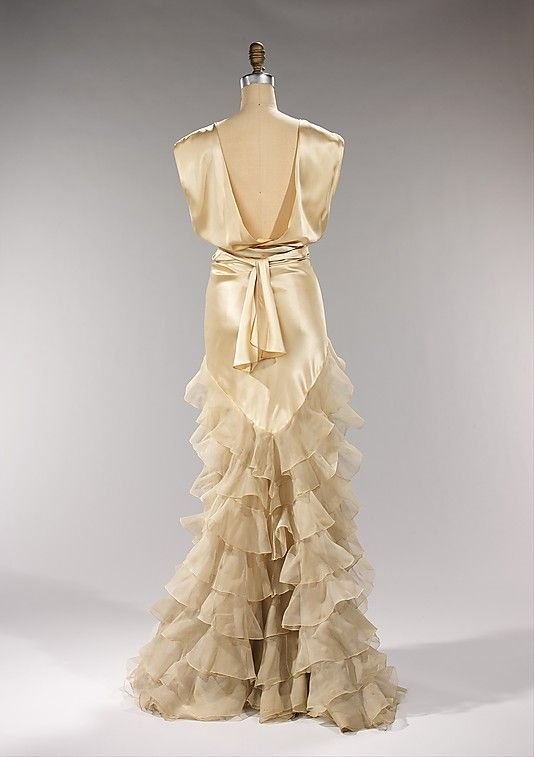 Dress, Evening Irene (American) Date: ca. 1935 Culture: American Medium: silk