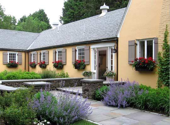 French Country Landscape Home | ... Landscape Architect | Woodburn & Company Landscape Design