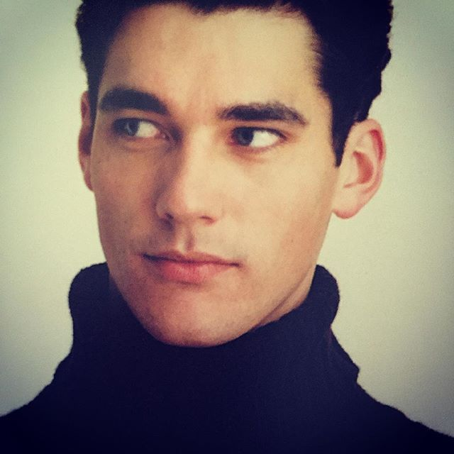 A young David Gandy for the same 2001 Burberry campaign