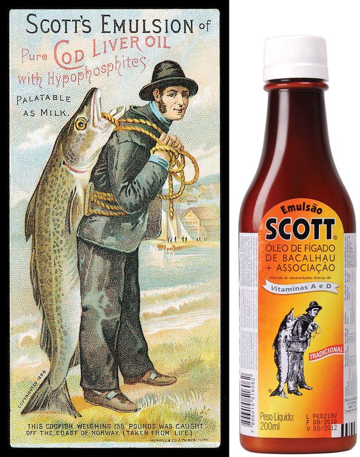 ...ter sido torturado pela mãe/avó/pai a tomar Emulsão Scott - óleo de fígado de bacalhau!!