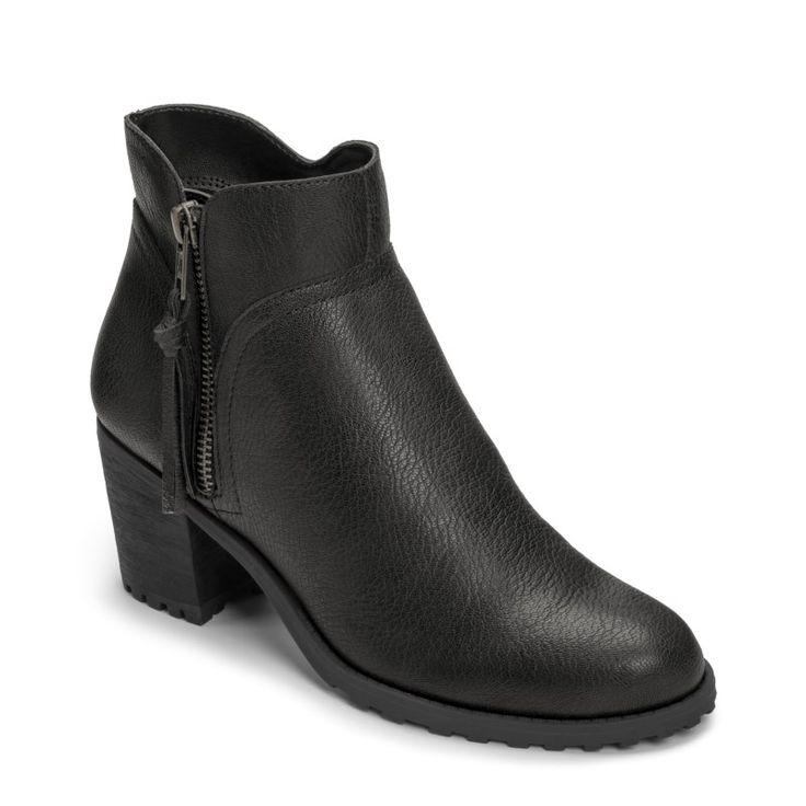 Aerosoles Women's Convincing Medium/Wide Ankle Boots (Black) - 12.0 W
