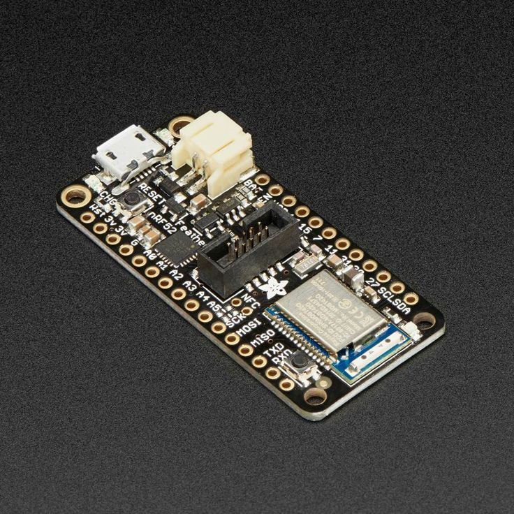 Adafruit Feather nRF52 Pro with myNewt Bootloader - nRF52832 - The Adafruit Feather nRF52 Pro is the latest Bluetooth Low Energy board for advanced projects and users who want to use a fully open source Bluetooth Low Energy 5.0 stack.