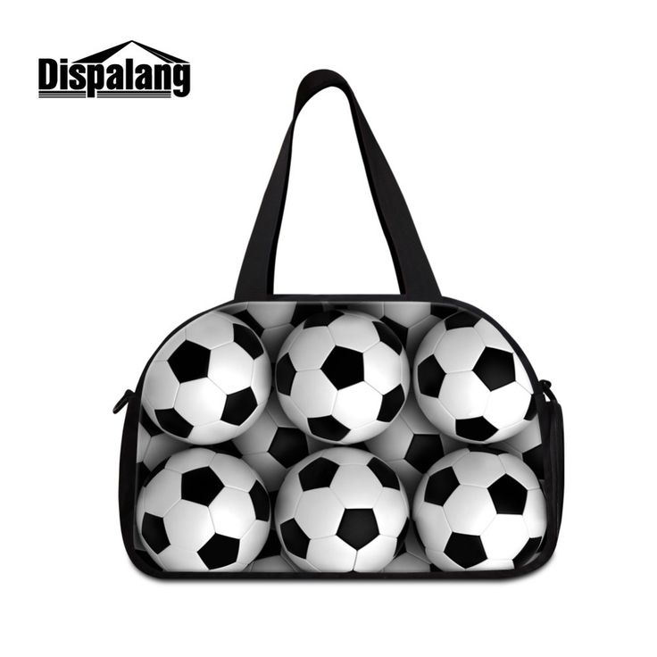 Ball printed Travel Bags for Men Cool travel shoulder bags for boys medium sized duffle bags with shoe pocket Teens Sporty bag