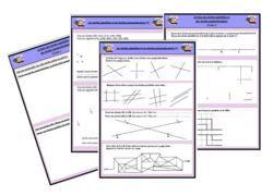 Fiches d'exercices droites parallèles, droites perpendiculaires