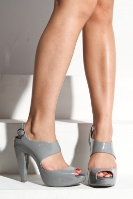 melissa - women's amazonita heel shoes (grey) - Melissa | 80's Purple - StyleSays