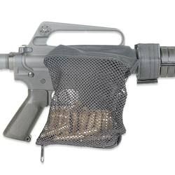 AR-15 Brass Catcher Mesh Bag Hook and Loop Fastener On Receiver Works Well