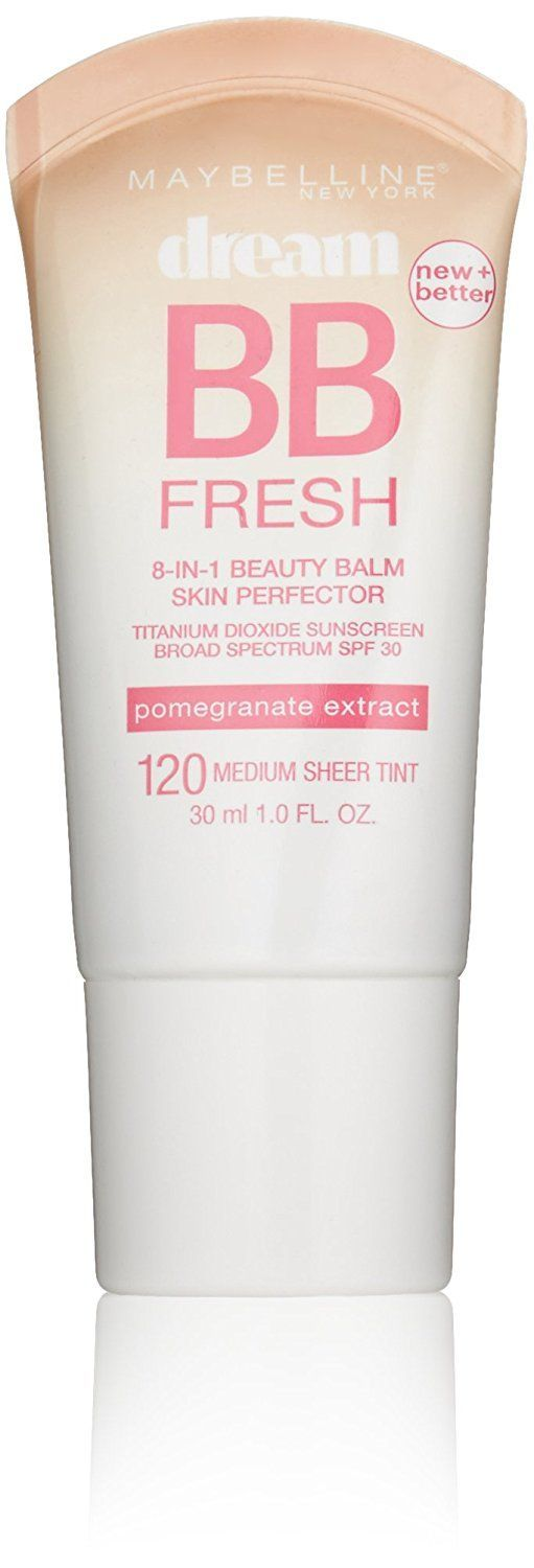 Maybelline New York Dream Fresh BB Cream, Medium, 1 Fluid Ounce (Packaging may vary) ** Startling review available here  : Creams and Moisturizers